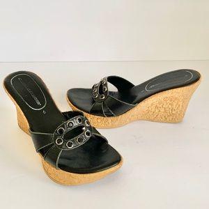ATHENA ALEXANDER cork wedge platform sandals shoe